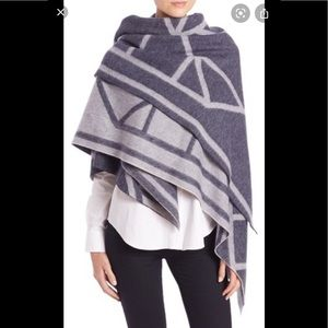 Tory Burch Oversized Scarf Wrap Cashmere/Wool Mix